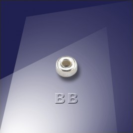 .925 Silver 3mm Roundel with a 1.5mm Hole - Retail system