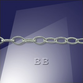 .925 Silver Trace Chain Oval 4x2,5mm Links