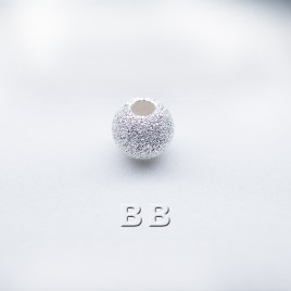 .925 Sterling Silver 4mm Stardust Beads with 1.5mm Hole