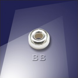 .925 Sterling Silver 5mm Roundel with a 2.2mm Hole