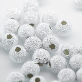 .925 Sterling Silver 6mm Stardust Beads with 1.5mm Hole - Retail system