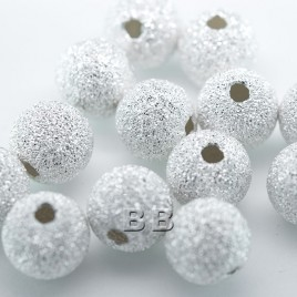 .925 Sterling Silver 8mm Stardust Beads with 2mm Hole - Retail system