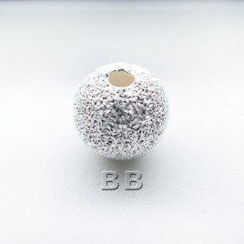 .925 Sterling Silver 8mm Stardust Bead with 2mm Hole