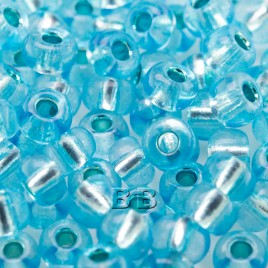Aqua silver lined size 5/0 seed beads- Retail system