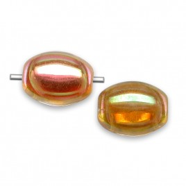 Astral Beetle 7x9mm Pressed  Czech Glass Bead - Retail system