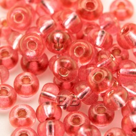 Berry Pink silver lined size 5/0 seed beads- Retail system