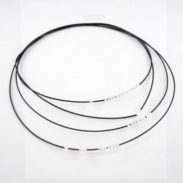 """Black Beading Wire  7x7 Coated Cable 0.60mm/.024"""" Dia."""
