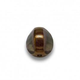 Black Diamond 8mm Tricon Cut, Golden Finished Fire Polished Glass Bead