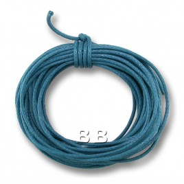 Blue Dazzle Polished Cotton Cord 1.00mm Dia