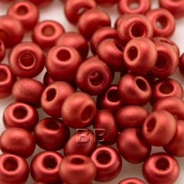 Brushed Red Metallic size 5/0 seed beads- Retail system