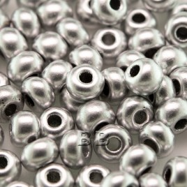 Brushed Silver Metallic size 5/0 seed beads- Retail system
