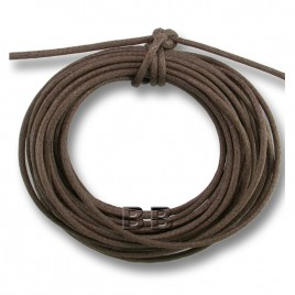 Chocolate Polished Cotton Cord 1.00mm Dia - Retail system