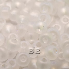 Clear matt rainbow size 5/0 seed beads- Retail system