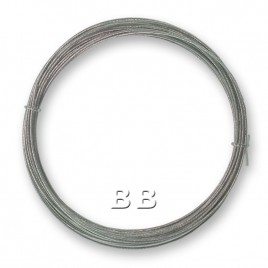 """Clear nylon coated 0.45mm/.018"""" Dia.7x1 Tigertail"""