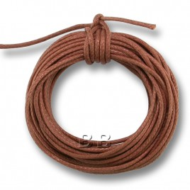 Copper Polished Cotton Cord 1.00mm Dia