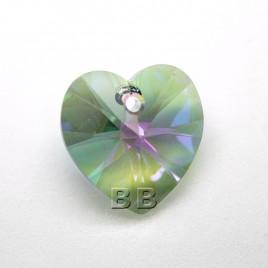 Crystal Paradise Shine 14.4x14mm 6228 Swarovski Xilion Heart Pendant
