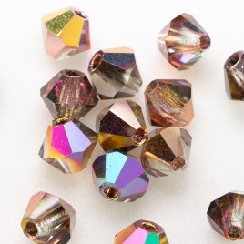 Czech Crystal Bohemica Bicone Bead 4mm Crystal (001) Mixed Copper