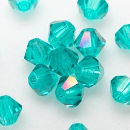 Czech Crystal Bohemica Bicone Bead 4mm Zircon (623) Radiance2