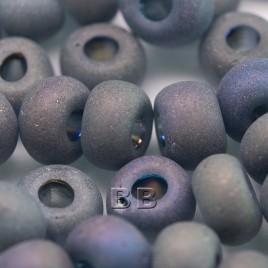 Grey matt rainbow size 32/0 seed beads - Retail system