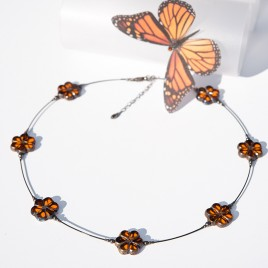 Sun Florice Necklace – Sterling Silver (black finish) components.