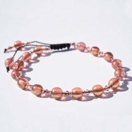 Honey Pink Macramé Symmetry Bead Bracelet