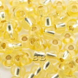 Lemon Drop silver lined size 5/0 seed beads- Retail system