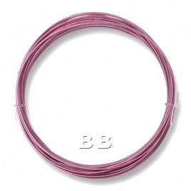 "Light Rose coloured, nylon coated 0.45mm/.018"" Dia.7x1 Tigertail"