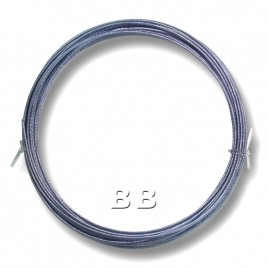"Light Sapphire coloured, nylon coated 0.45mm/.018"" Dia.7x1 Tigertail"
