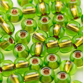 Lime Copper lined size 5/0 seed beads- Retail system