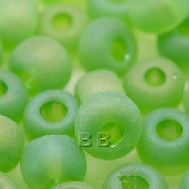 Lime matt rainbow size 32/0 seed beads - Retail system