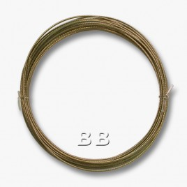 "Medium Bronze coloured, nylon coated 0.45mm/.018"" Dia.7x1 Tigertail"