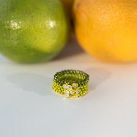 Mini Studio - Citrus Peyote Stitch Ring Bead Kit - Includes FREE Instructions