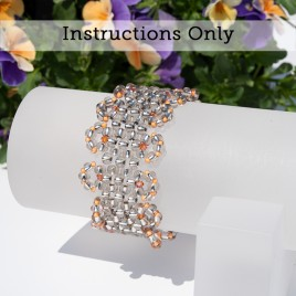 Mini Studio - Lacy Steely Spirit Stretchy Bracelet with Preciosa Seed Beads & Swarovski Crystal