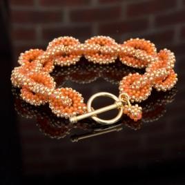 Mini Studio - Golden Orange Bracelet Chain Bead Kit