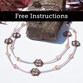 Mini Studio – Pink Lotus Lariat Bead Necklace - Free Jewellery Making Instructions