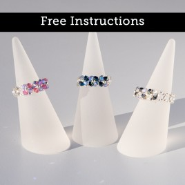 Mini Studio – Right Angle Weave (RAW) - Embellished Crystal Ring – Free jewellery instructions