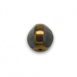 Montana 8mm Tricon Cut, Golden Finished Fire Polished Glass Bead