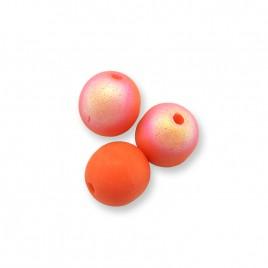 Nectarine AB 6mm round Czech glass druk beads