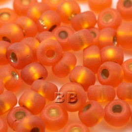 Orange matt silver lined size 5/0 seed beads- Retail system