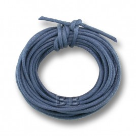 Pacific Blue Polished Cotton Cord 1.00mm Dia