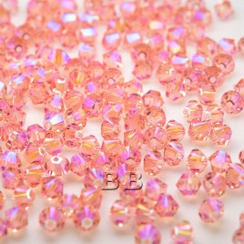 Pink Shimmer  Daisy Bead Colorway