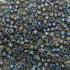 Preciosa 100 Gms Czech glass seed bead 11/0 Moon Mist, Silver lined matt and rainbow