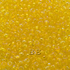 Preciosa 100 Gms Czech glass seed bead 11/0 Yellow transparent rainbow