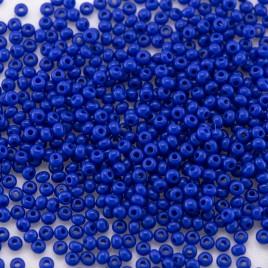 Preciosa Czech glass seed bead 15/0 True Blue Opaque