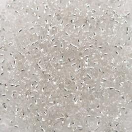 Preciosa Czech glass seed bead 15/0 Clear Silver Lined