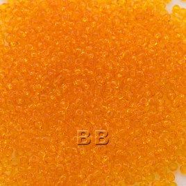 Preciosa Czech glass seed bead 15/0 Tangerine Transparent glass