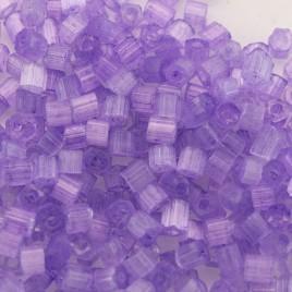 Preciosa Czech glass seed bead, 2-cut, size 9/0 Violet coated