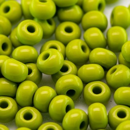Preciosa Czech glass seed bead 5/0 Green Oasis approximately 4.5mm