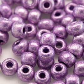 Preciosa Czech glass seed bead 5/0 Violet metallic coated (SHINY)