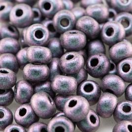 Preciosa Czech glass seed bead 5/0 Lilac-Blu iridescent metallic coated